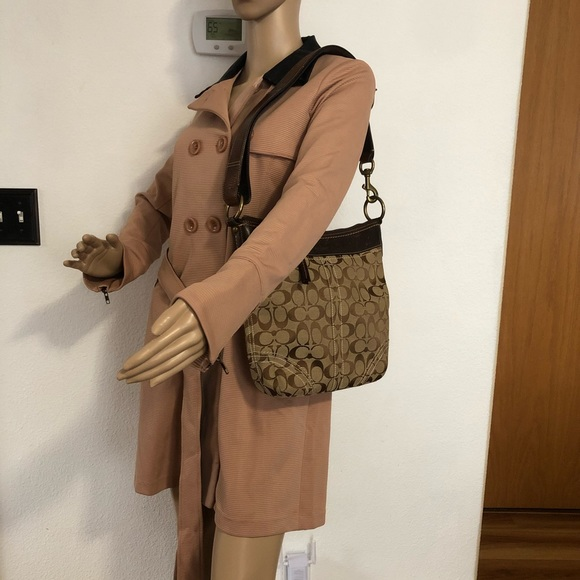 Coach Handbags - COACH Khaki brown Shoulder bag